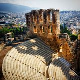 Athens. Temple of the Royalty Free Stock Photography