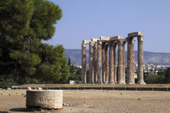 Athens Temple of Zeus Stock Photo