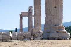 Athens, temple of Zeus Royalty Free Stock Photos