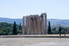 Athens, temple of Zeus Royalty Free Stock Photography