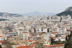 Athens From Top Stock Photo