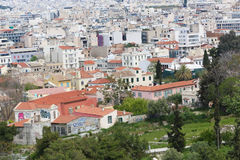 Athens From Top Stock Image