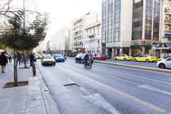 Athens - traffic Royalty Free Stock Photography