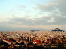 Athens view 11. A high view of the Athens city in Greece Royalty Free Stock Photos