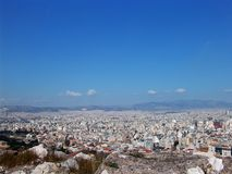 Athens view 15. A high view of the Athens city center Stock Images