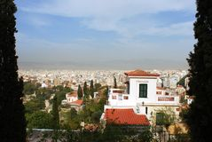 Athens View. Framed view of Athens city, the capital of Greece Royalty Free Stock Photos