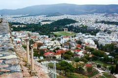 Athens view from acropolis Stock Photos