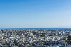 Athens view from acropolis. 2016 Royalty Free Stock Photo