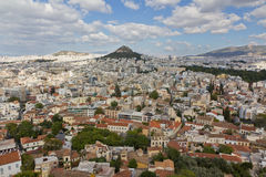 Athens view from Acropolis, Greece royalty free stock photos