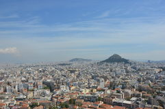 Athens view from Acropolis Royalty Free Stock Photography