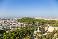 Athens. View of city from Acropolis Royalty Free Stock Images