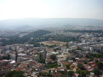 Athens, Greece. A view from the hill where Acropolis is stock image