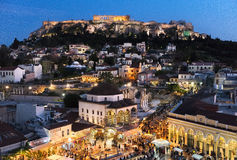 Athens view. Panoramic view of Athens from above Royalty Free Stock Images
