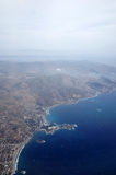 Athens, view from plane Stock Photos