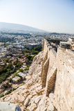 Athens. Walls of Acropolis Royalty Free Stock Photos