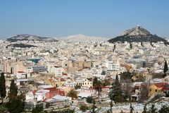 Athens in Winter Stock Photos