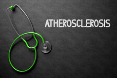 Atherosclerosis Handwritten on Chalkboard. 3D Illustration. royalty free stock image