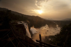 Athirapilly waterfalls. The most outstanding water fall in South India Royalty Free Stock Photography