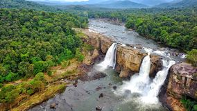 Athirapilly Waterfalls, Kerala stock images