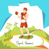 Athlète Boxer Sport Competition de boîte illustration de vecteur