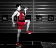 Athlète de long saut Photographie stock libre de droits