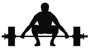 Athlète de poussoir de poids Photo stock