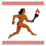 Athlète du grec ancien Image libre de droits