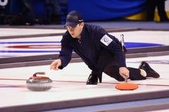 athlète enroulant le shuster olympique Etats-Unis de John Photographie stock libre de droits