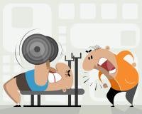Athlète et entraîneur Image stock