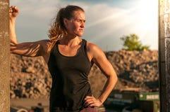 Athlète féminin dur Images libres de droits