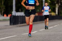 Athlète féminin Runner Images libres de droits