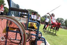 Athlète handicapé Images libres de droits