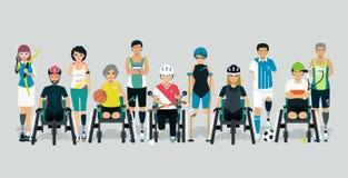 Athlète handicapé illustration libre de droits