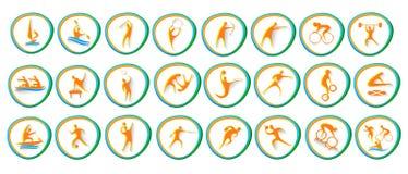 Athlète réglé Competition Collection d'icône de sport Illustration Libre de Droits