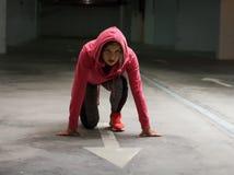 Athlète Runner Woman de forme physique Photographie stock libre de droits