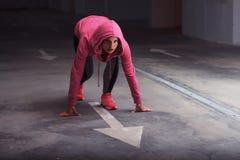 Athlète Runner Woman de forme physique Photos libres de droits
