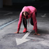 Athlète Runner Woman de forme physique Images stock