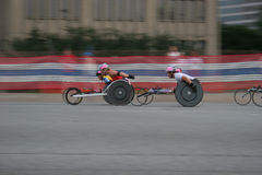 Athlètes 8 de fauteuil roulant Photos stock