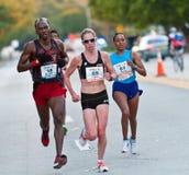 Athlètes dans le marathon Photos stock