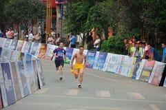 Athlètes dans le marathon Image stock