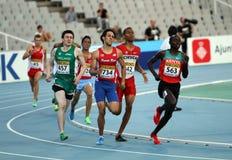 Athlètes dans les 800 mètres sur le monde de 2012 IAAF Photo stock
