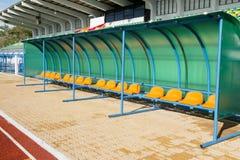 Athlètes de chaise dans le stade Image libre de droits