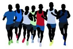 athlètes de coureurs de groupe Image libre de droits
