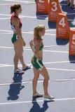 Athlètes de femmes Photos stock