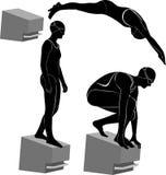 Athlètes de nageurs Image stock