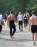 Athlètes de Triathlon Images libres de droits
