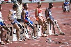 Athlètes handicapés Image libre de droits