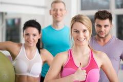 Athlètes heureux après séance d'entraînement Photos libres de droits