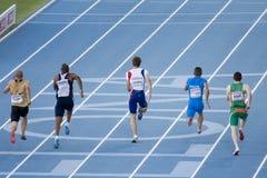 Athlétisme 100 mètres de chemin Photos libres de droits