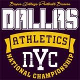 Athlétisme de Dallas de conception Photo stock